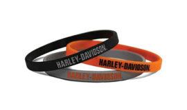 "Harley-Davidson Bracelet souple"" HD GRIS"""