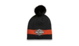 """Harley-Davidson bonnet """"HAT-KNIT BLACK"""" FEMME"""