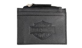 "Harley-Davidson porte monnaie ""Bar&Shield ZIP"" cuir noir"