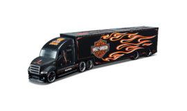 """Harley-Davidson l'emblématique miniature """"TRUCK FLAMMES"""" Maisto"""