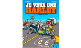 """Harley-Davidson Bande dessinée """"LA CONQUETE DE L'OUEST """""""
