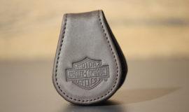 Harley-Davidson PINCE A BILLETS cuir MARRON