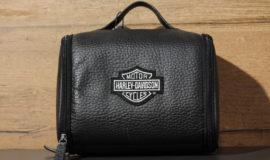 """Harley-Davidson trousse de toilette en cuir """"COMPANION PIECES"""" NOIR"""