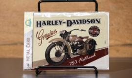 "Harley-Davidson ""METAL CARD 750 FLATHEAD"" carte postale"