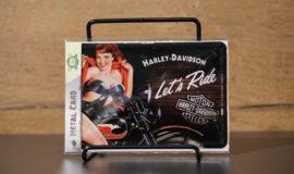 """Harley-Davidson """"METAL CARD LET'S RIDE"""" carte postale"""
