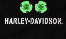 """Harley-Davidson """"POKERCHIPS"""" VERT POMME ET NOIR"""