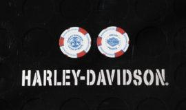 """Harley-Davidson """"POKERCHIPS"""" BLEU BLANC ROUGE"""