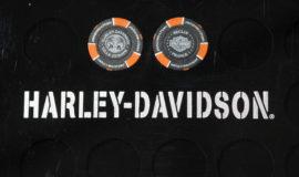 """Harley-Davidson """"POKERCHIPS"""" NOIR ET ORANGE"""