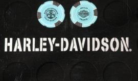 """Harley-Davidson """"POKERCHIPS"""" TURQUOISE ET NOIR"""