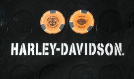 """Harley-Davidson """"POKERCHIPS"""" ORANGE ET NOIR"""