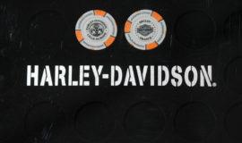 """Harley-Davidson """"POKERCHIPS"""" GRIS ET ORANGE"""
