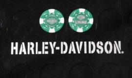 """Harley-Davidson """"POKERCHIPS"""" VERT ET BLANC"""