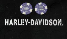 """Harley-Davidson """"POKERCHIPS"""" VIOLET ET BLANC"""