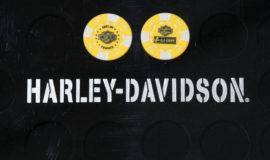 "Harley-Davidson ""POKERCHIPS"" JAUNE ET BLANC"
