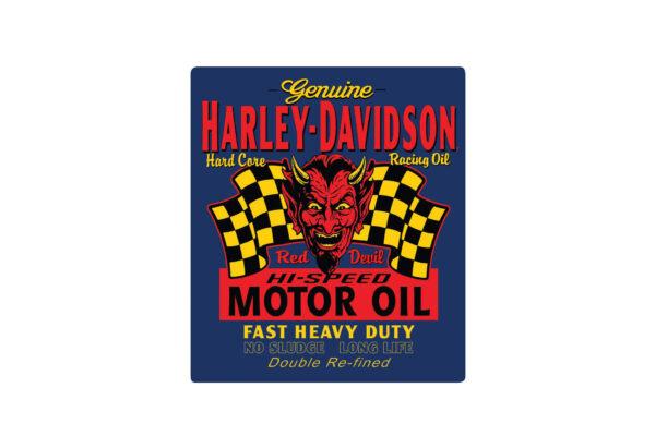 "Harley-Davidson Plaque murale métal ""RED HOT"""