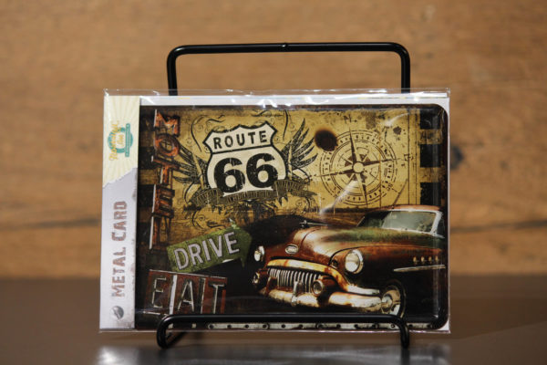 "Harley-Davidson ""METAL CARD ROUTE US 66"" carte postale"