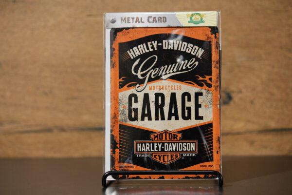 "Harley-Davidson ""METAL CARD"" carte postale"