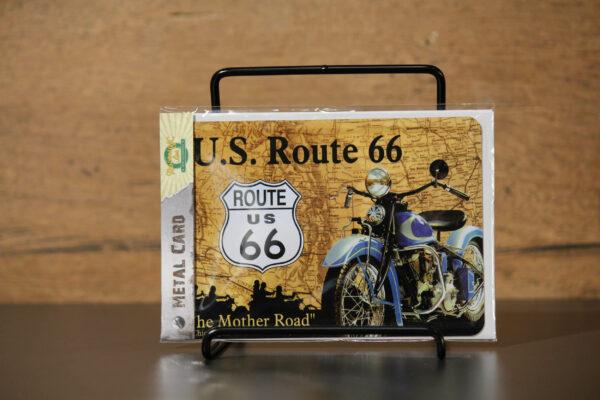"Harley-Davidson ""METAL CARD ROUTE 66 DRIVE"" carte postale"